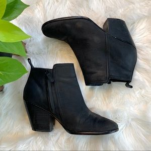 Cole Haan Black Leather Ankle Boots Booties
